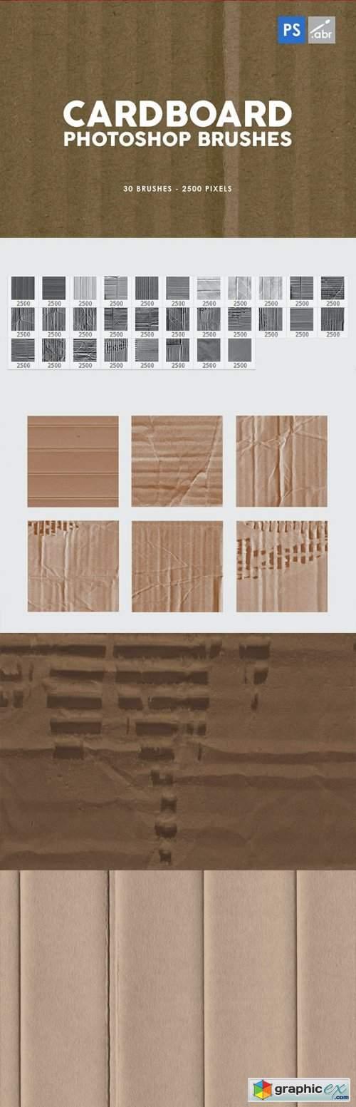 30 Cardboard Photoshop Brushes Vol.1