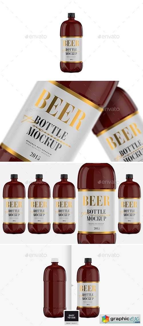 Beer Bottle - Amber PET - Mockup