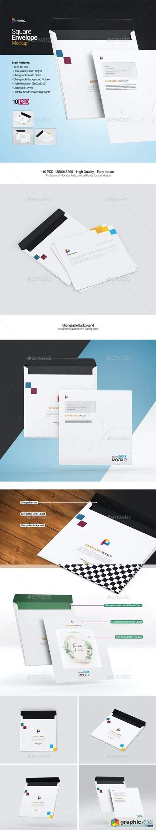 Square Envelope Mockup 29507326
