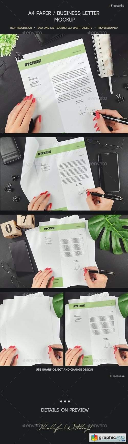 A4 Paper / Business Letter Mockup