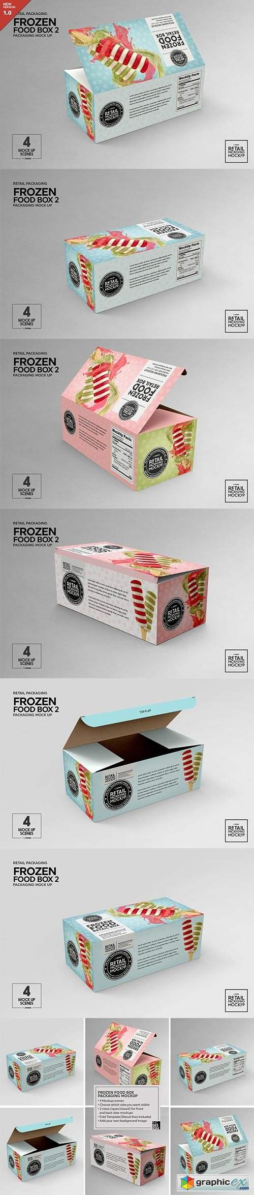 Retail Frozen Food Packaging2 Mockup