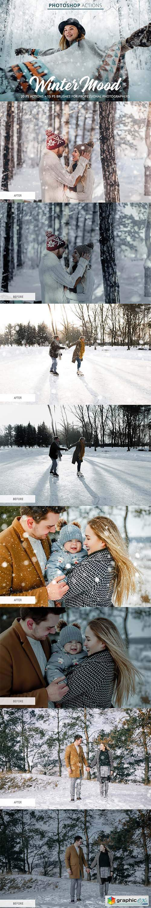 Winter Mood Actions for Photoshop