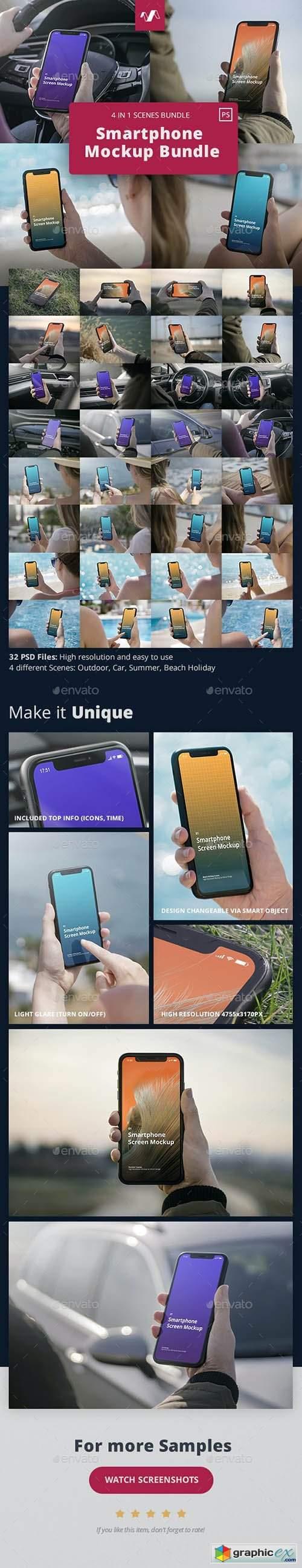 Phone Mockup Scenes Bundle