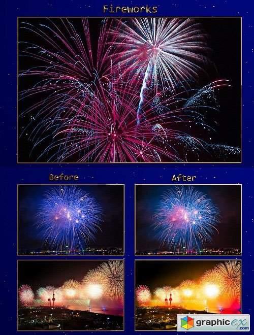 75 Fireworks Lightroom Presets Collection