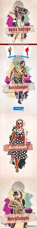 Retro Collage - Photoshop Action