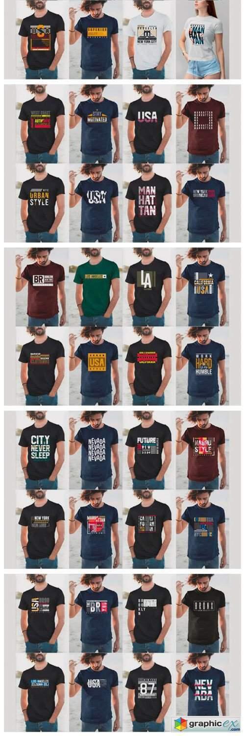 Urban Street T-shirt Design Bundle