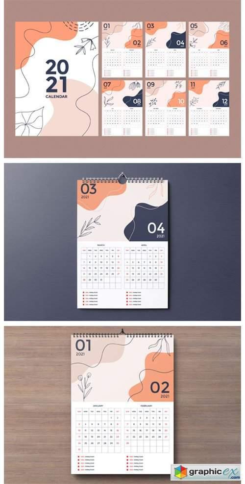 Wall Calendar 2021 Design 6980521