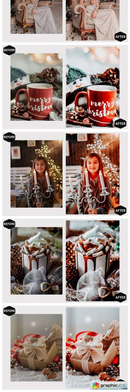 10 Moody Xmas Photoshop Actions and ACR