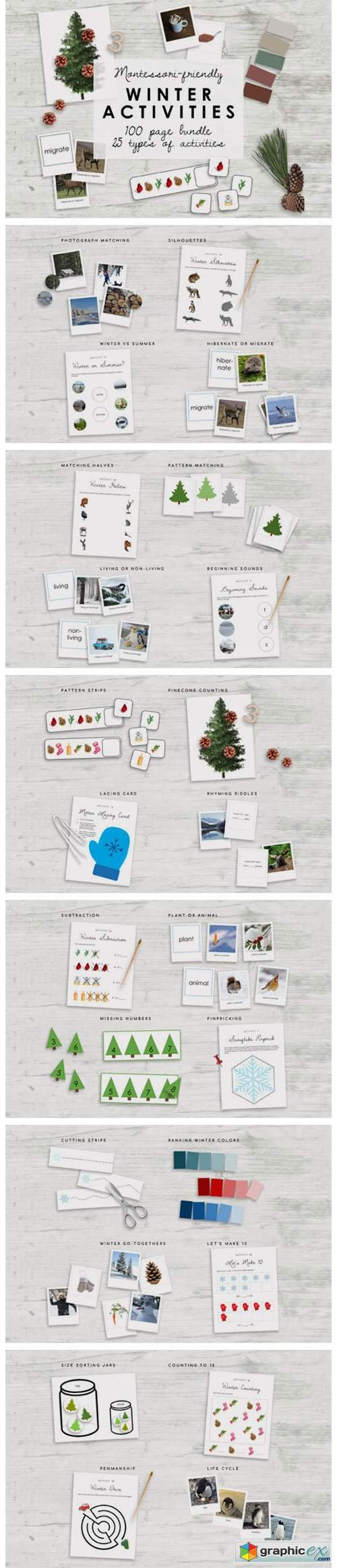 Montessori Winter Bundle | Kindergarten