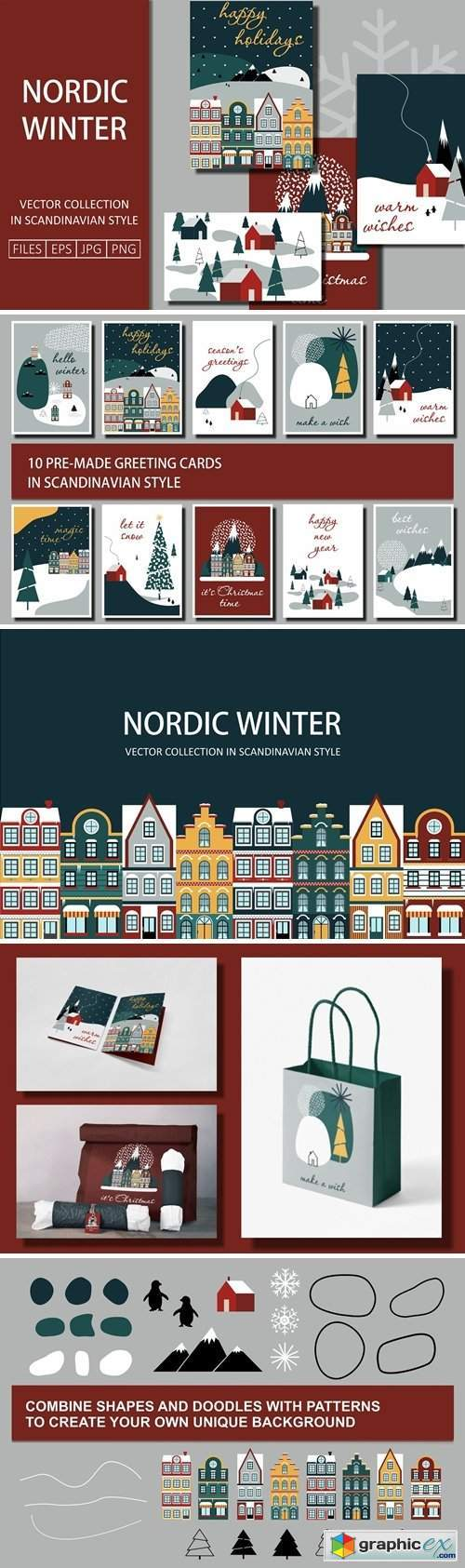 Nordic Winter Greeting Cards