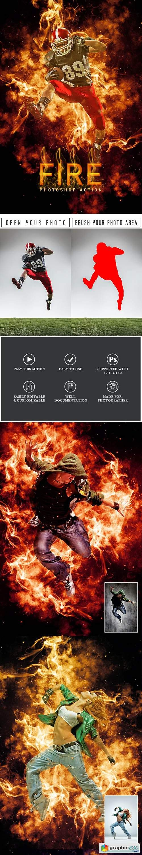 Fire Photoshop Action 29628249