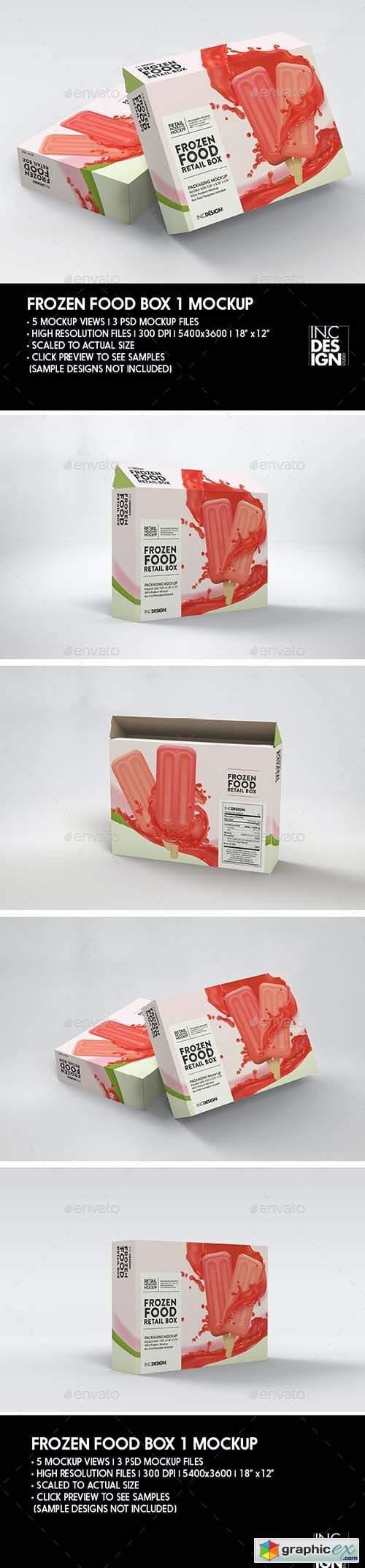 Thin Frozen Food Box Packaging Mockup