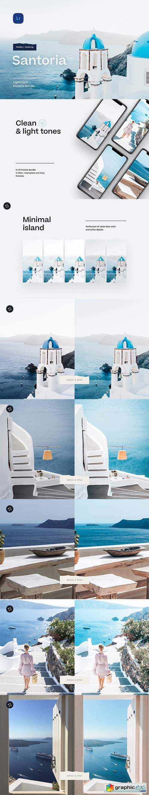 5 Santorini Lightroom Presets
