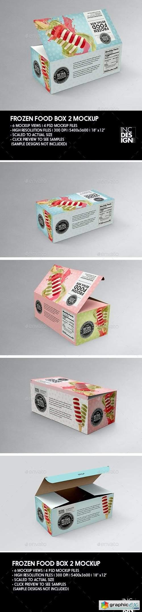 Big Frozen Food Box Packaging Mockup