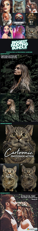 Painting Biggest Bundle - 10 Photoshop Actions