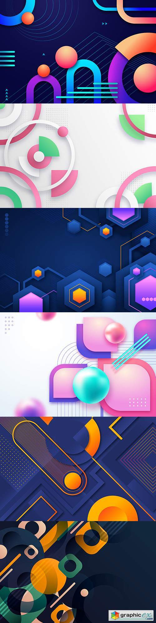 Gradient abstract design geometric background shape 4