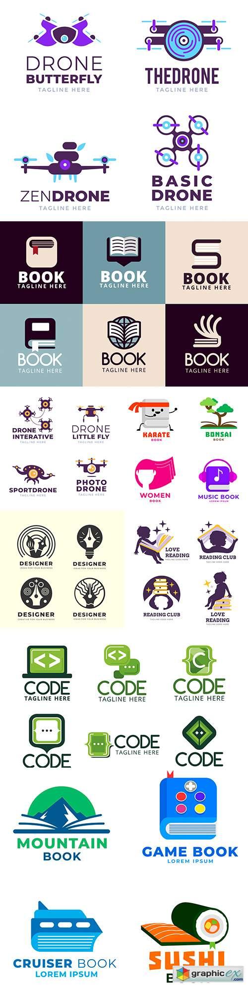 Brand name company business corporate logos design