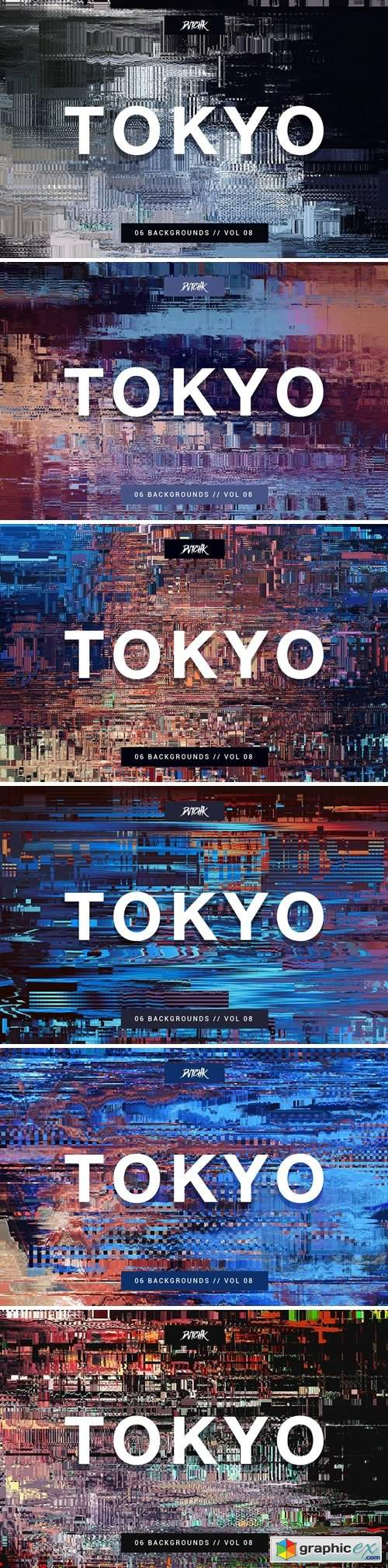 Tokyo| City Glitch Backgrounds | Vol. 08