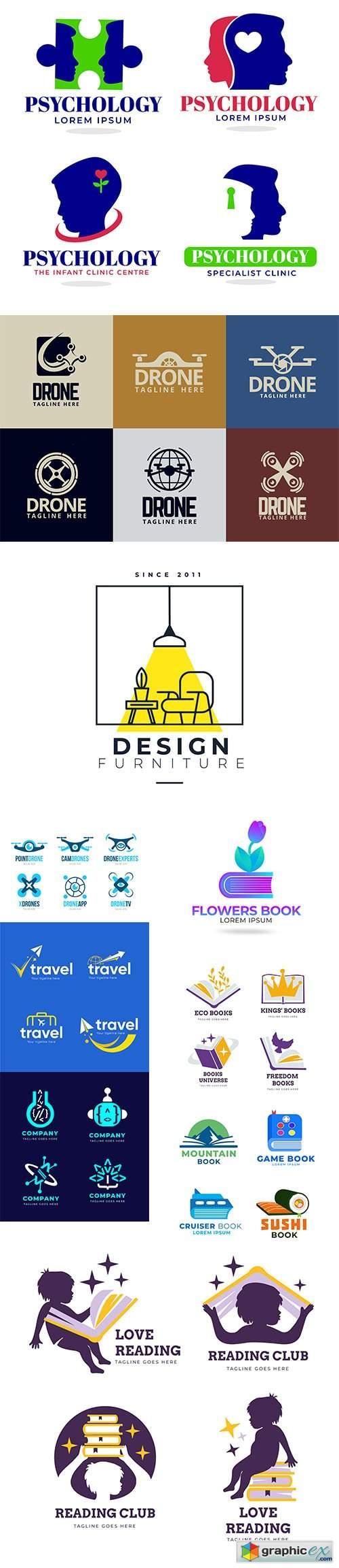 Design logo vector template collection