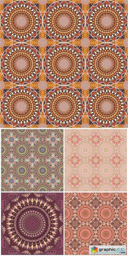Geometric seamless texture in vector