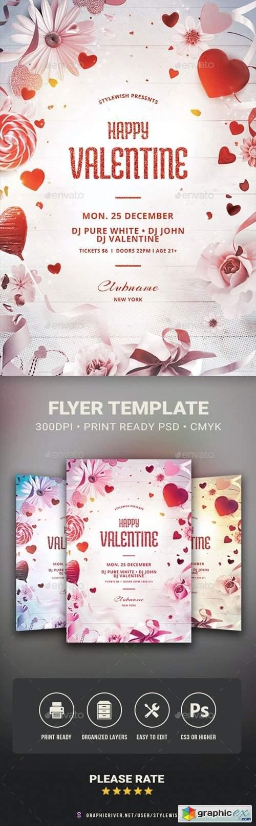 Happy Valentine Flyer 29779574