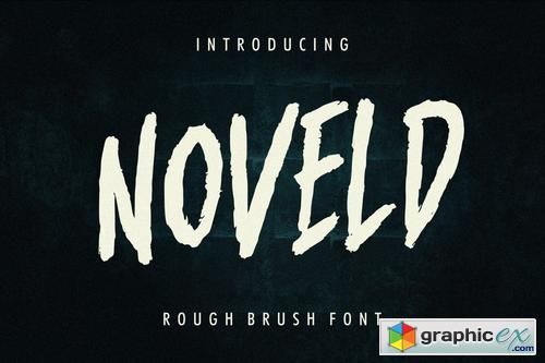 Noveld Horror Brush Font