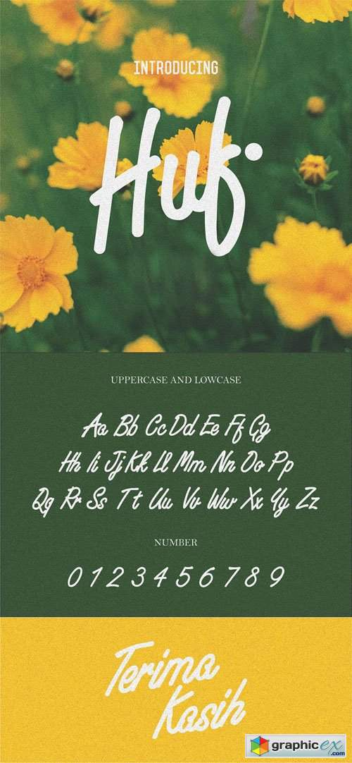 Huf Script Handwriting Font