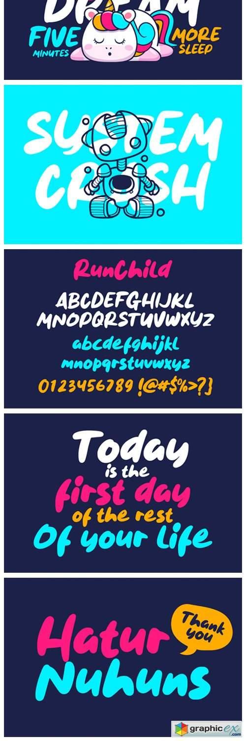Run Child Font