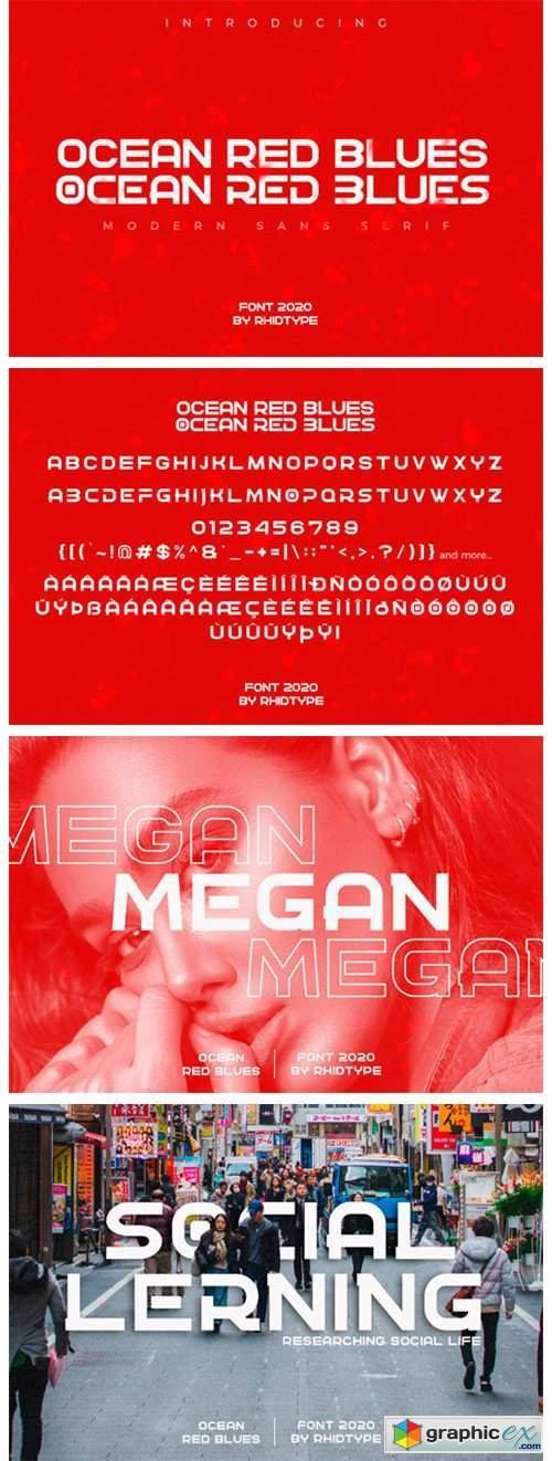 Ocean Red Blues Font