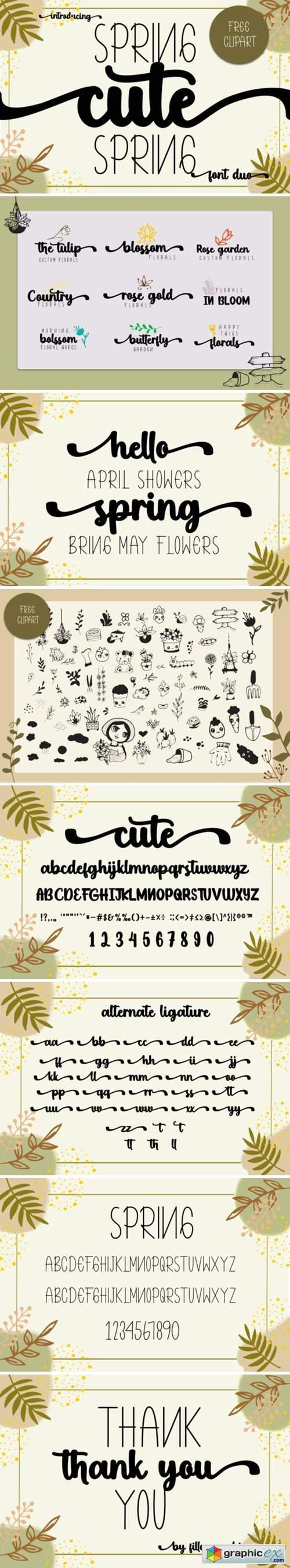 Cute Spring Font