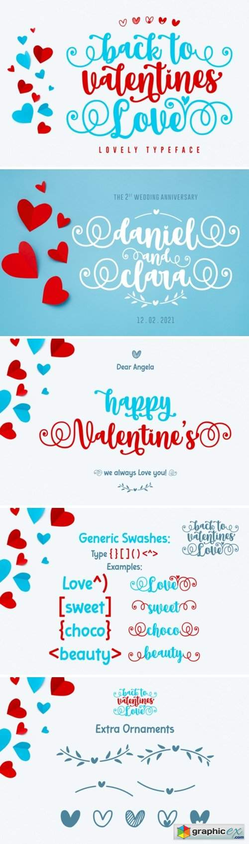 Back to Valentine Love Font