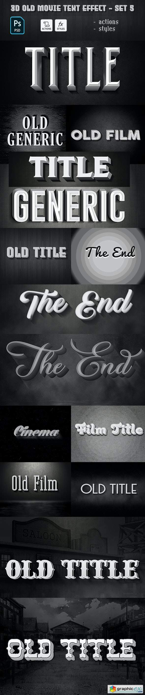 Old Movie Text Effect 29885827