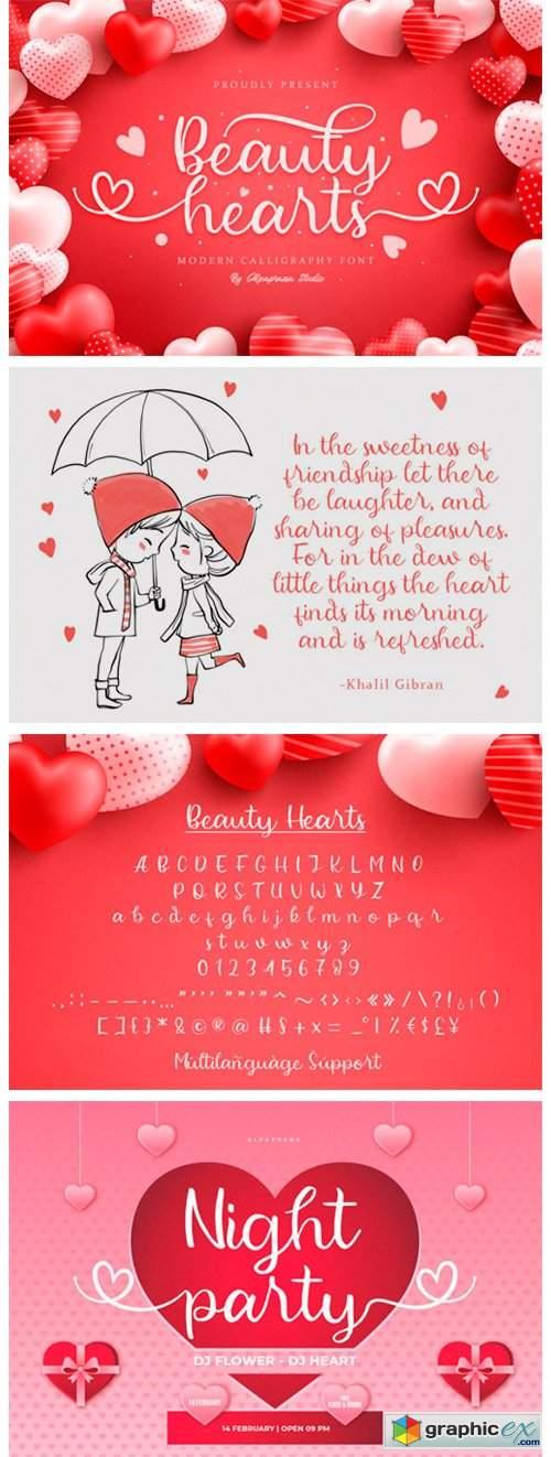 Beauty Hearts Font