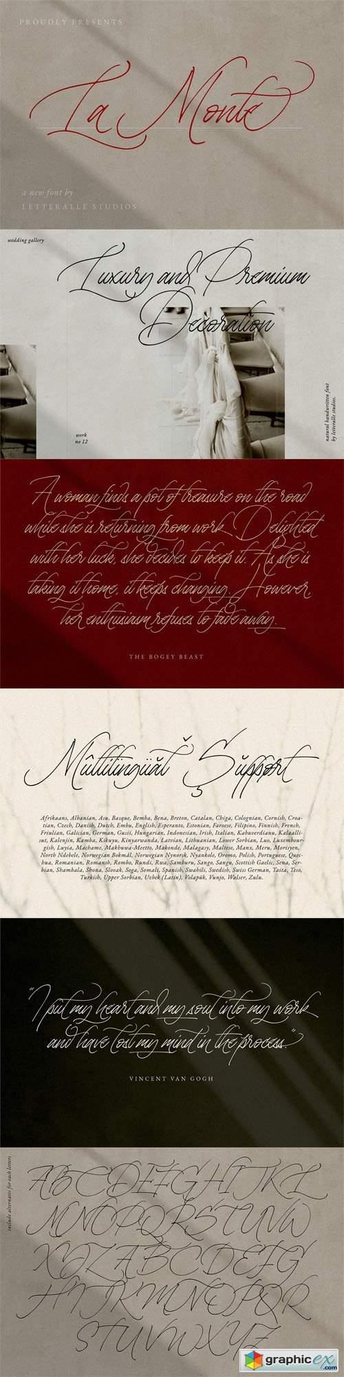 La Monte Calligraphy Font