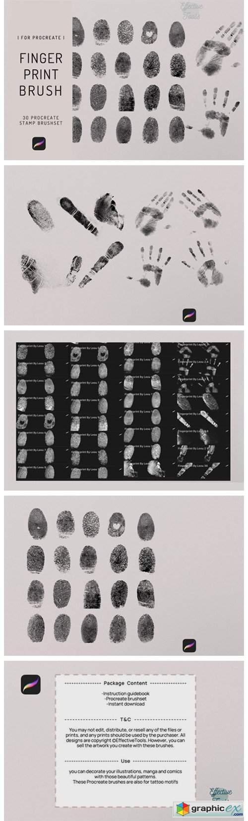 30 Procreate Fingerprint Stamp Brush