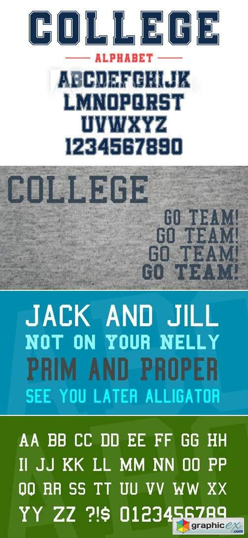 College Slab Serif Display Font [4-Weights]