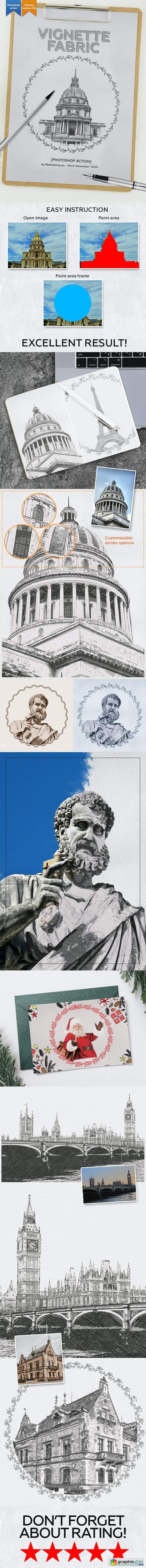 Vignette Fabric Photoshop Action