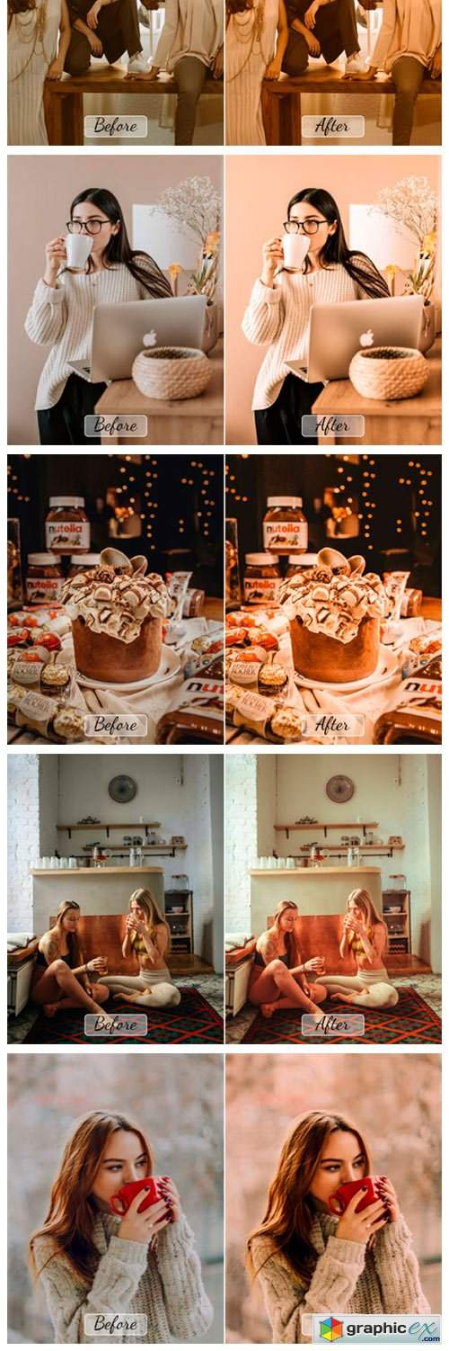 10 Pro Cacao Photoshop Actions, ACR, LUT