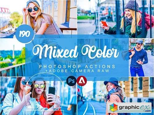 190 Mixed & Color Photoshop Actions