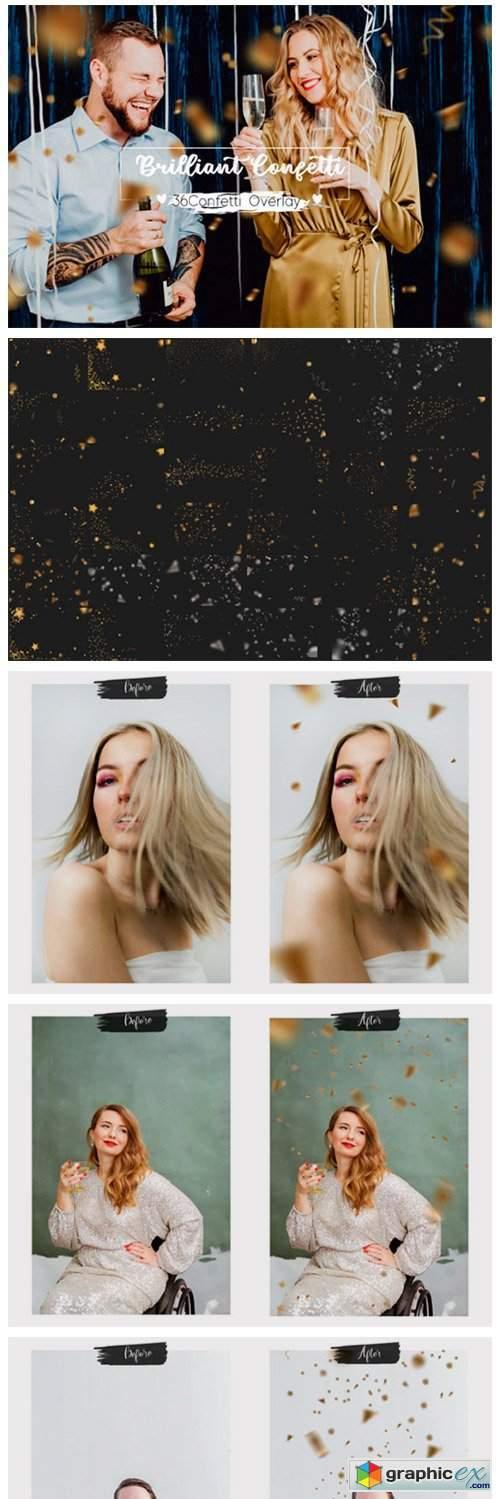 36 Brilliant Confetti Overlays