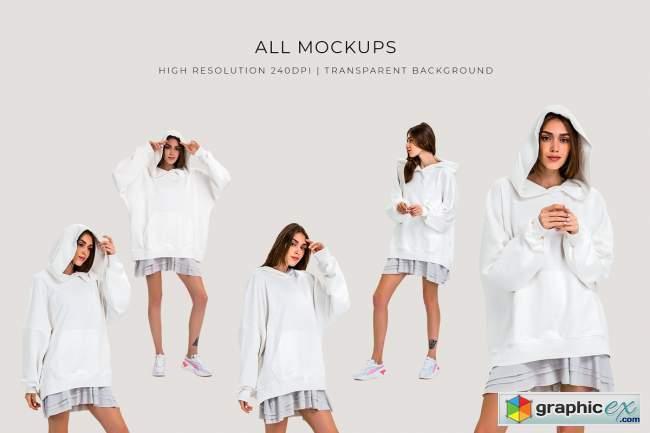Oversize Hoodie Mockup Templates
