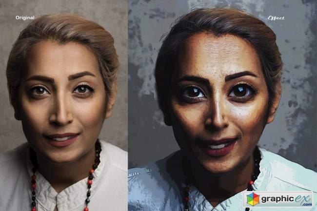 Cartoonize Effect Photoshop Action