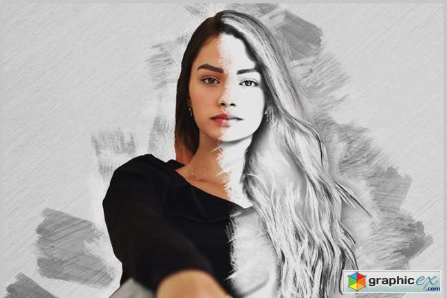 Pencil Sketch Photoshop Action Vl-2
