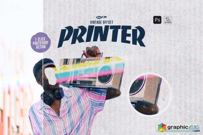 Vintage Offset Printer