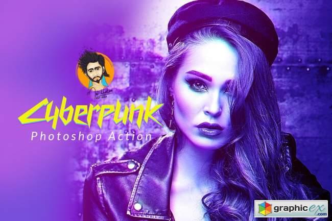 Cyberpunk Photoshop Action 5734504