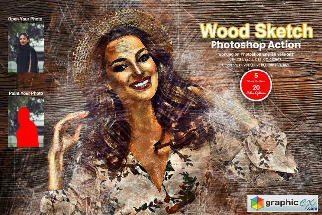Wood Sketch Photoshop Action
