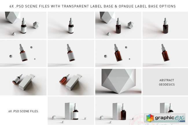 Dropper Bottle & Box Mock-Up | Vol.2