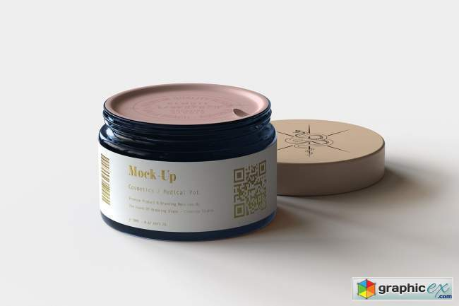Amber Cosmetics Pot Mock-Up | Vol.1