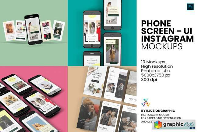 Phone Screen / UI / Instagram Mockup 5732128