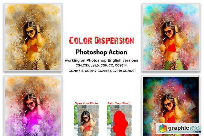 Color Dispersion Photoshop Action